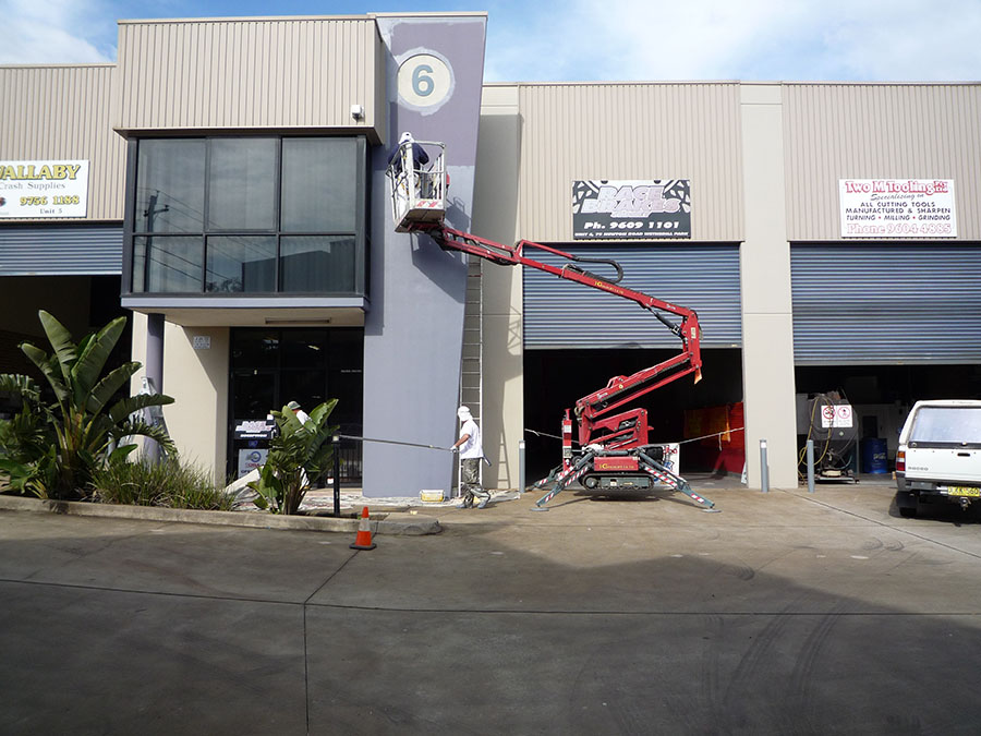 painting of commercial units in Wetherill Park NSW
